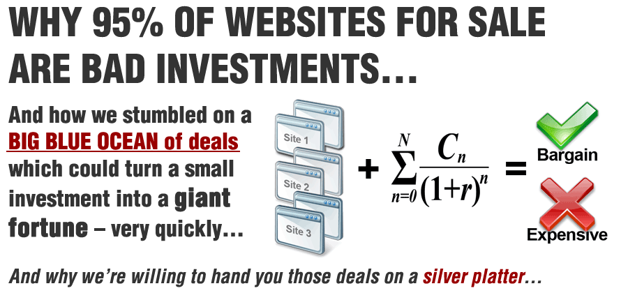 Why 95% of websites actively for sale are bad investments…